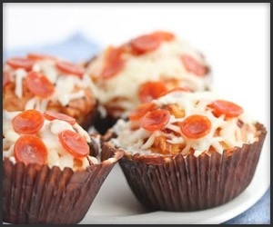 Pepperoni Pizza Cupcakes
