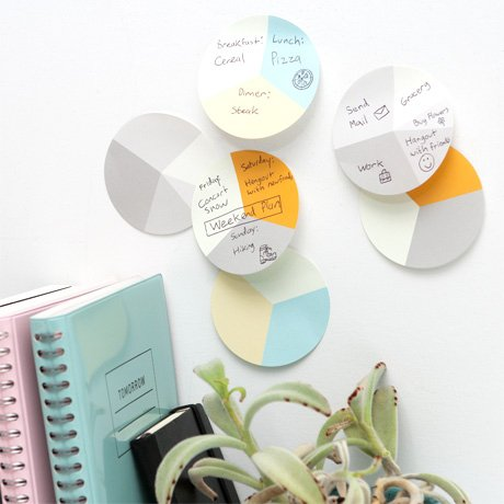 Pie Graph Sticky Notes