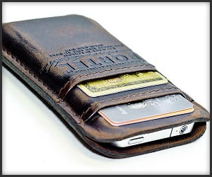 Aged Leather iPhone Wallet