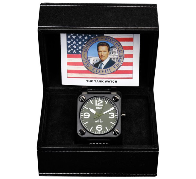 Schwarzenegger Tank Watch