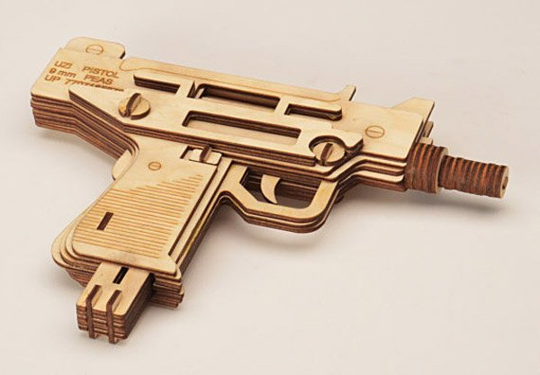 Laser Cut 3d Gun Puzzles The Awesomer