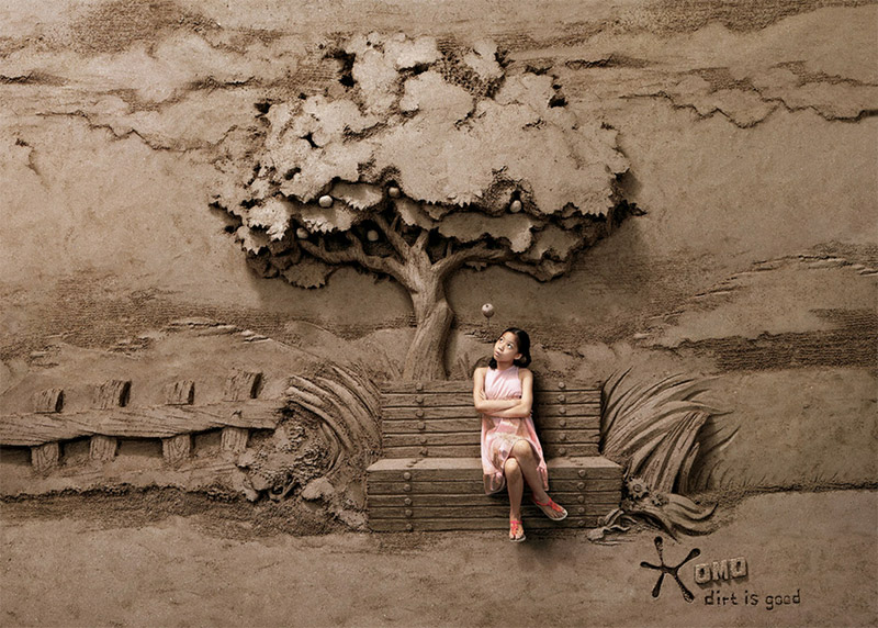 Sand Sculpture Detergent Ads