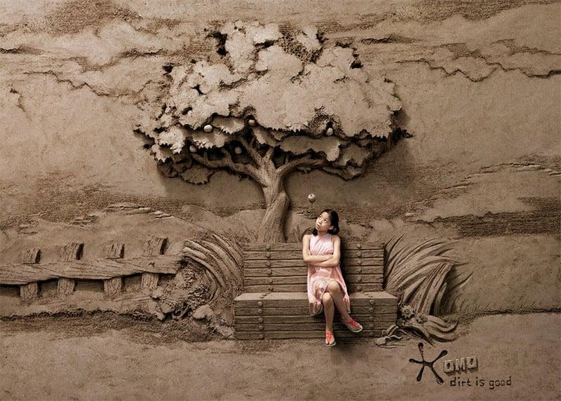 Sand Sculpture Detergent Ads