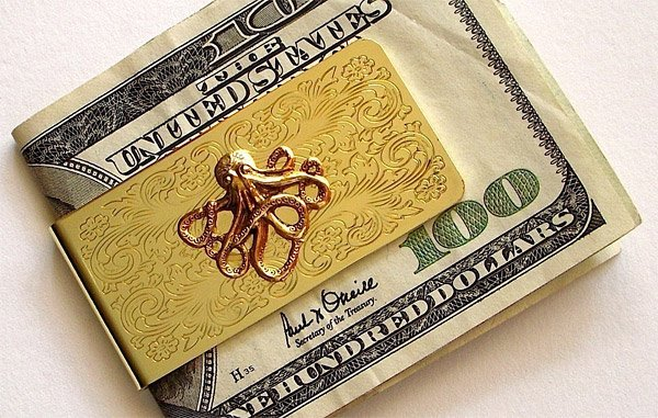 Octopus Money Clip