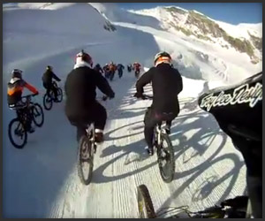 Glacier Downhill Bike Ride