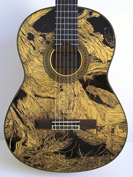Permanent Marker Guitars