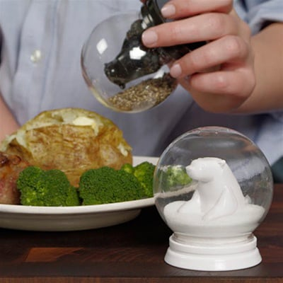 Snowglobe Salt & Pepper Shakers