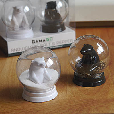Snowglobe Salt Pepper Shakers The Awesomer