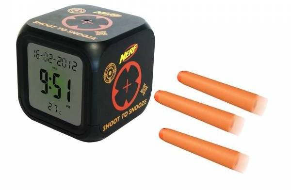 Shoot-to-Snooze Alarm Clock