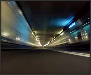 Speeding through Lincoln Tunnel