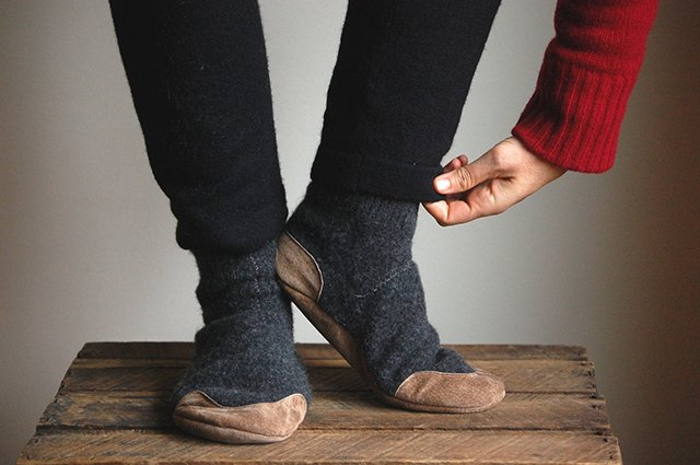Wool Sweater Slippers