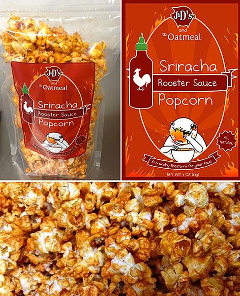 Sriracha-Flavored Popcorn