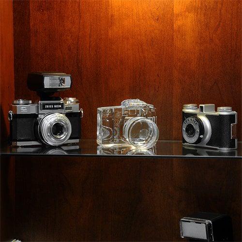 Crystal DSLR Camera Bookends