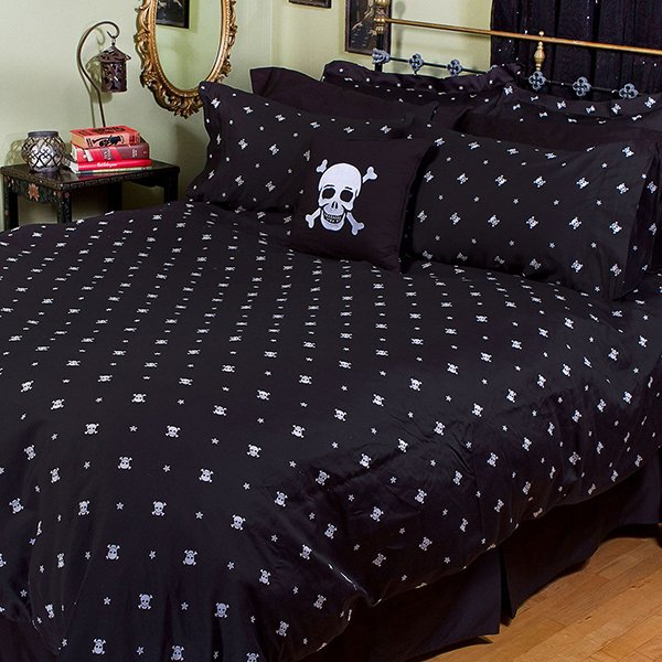 Skull Crossbones Bedding The Awesomer