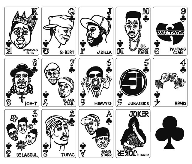 Hip Hop Playing Cards