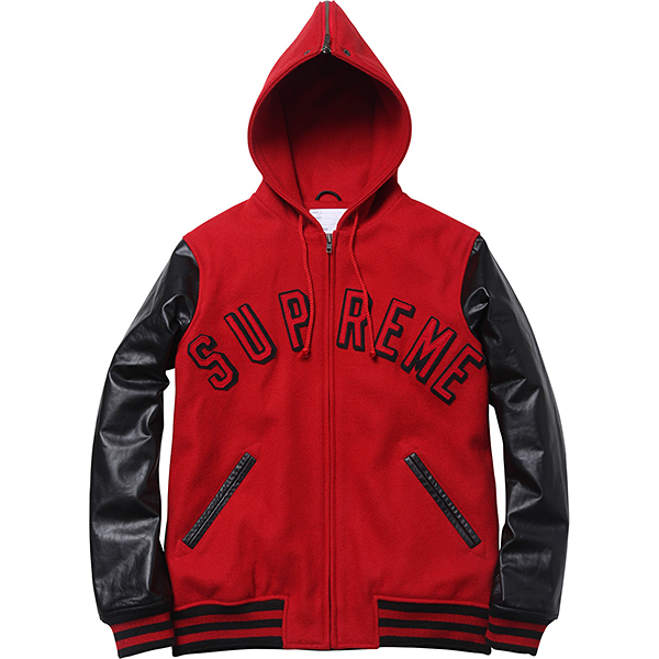 Supreme Hooded Varsity Jacket