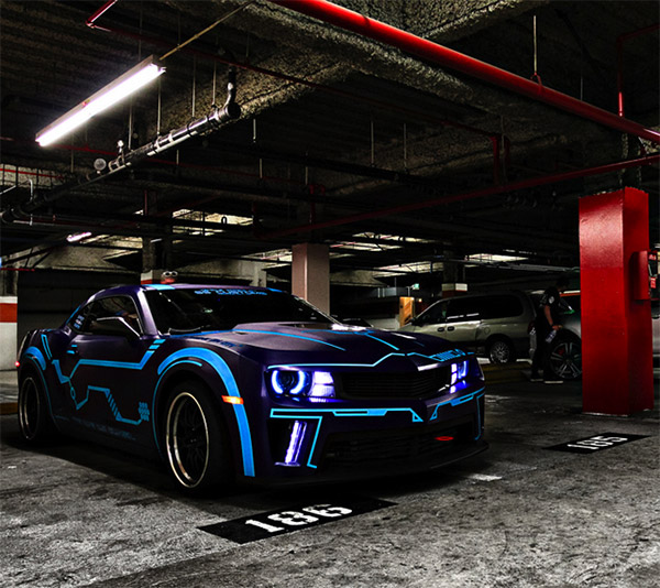 tron camaro the awesomer. Black Bedroom Furniture Sets. Home Design Ideas