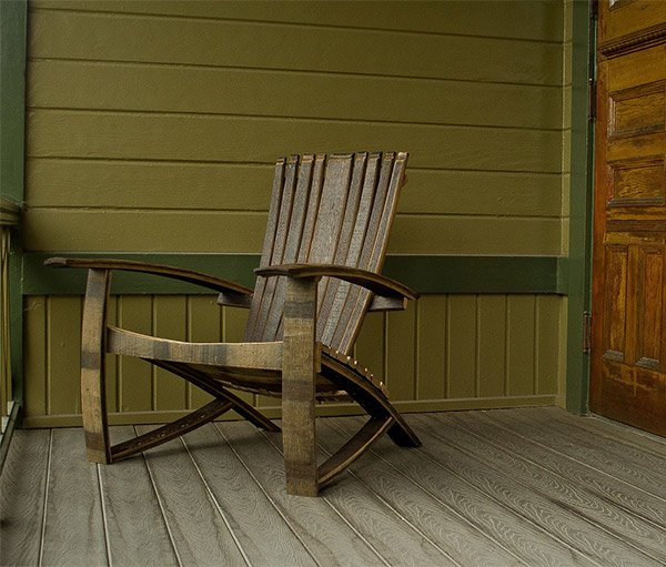 Whiskey Barrel Adirondack