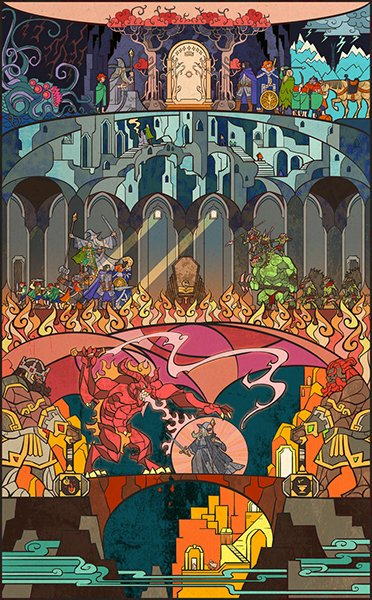 LOTR Stained Glass Illustrations