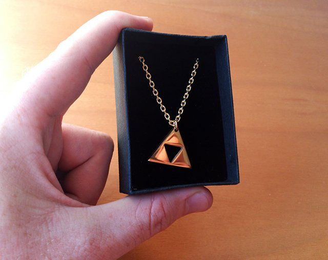Gold Plated Triforce Necklace