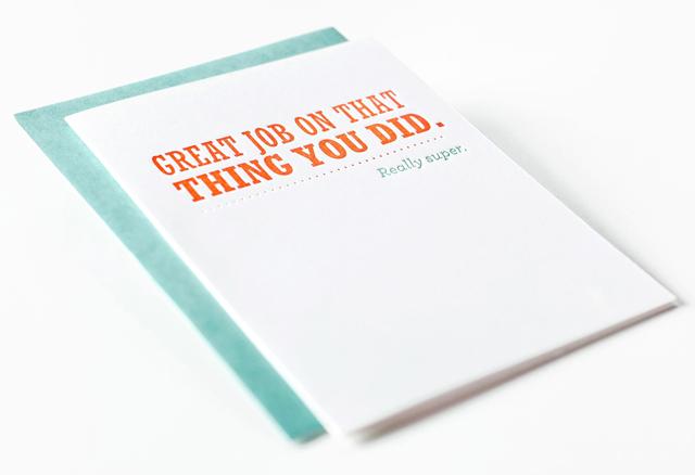 Great Job Greeting Card