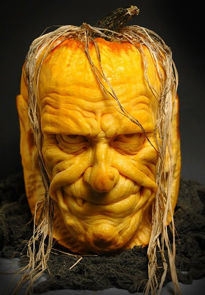 Pumpkin carving boss the awesomer