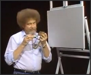 Bob Ross Feeds a Squirrel