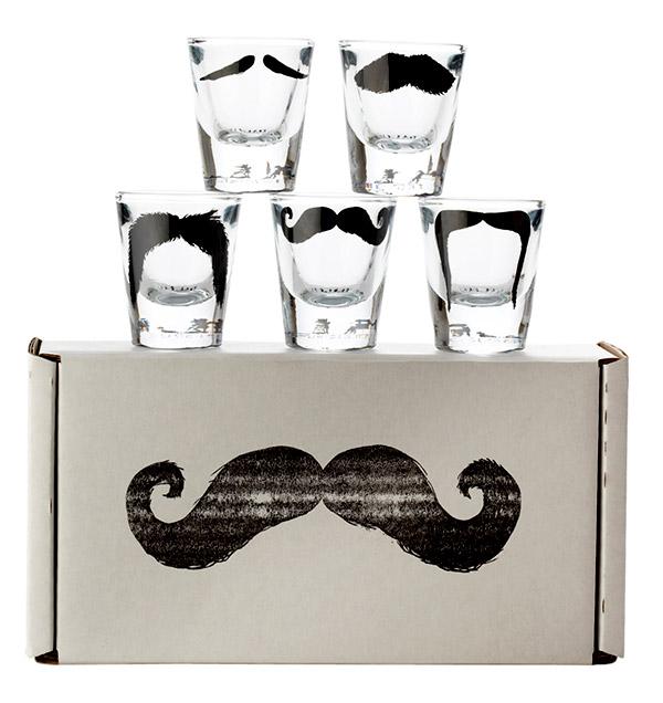 Mustache Shot Glasses