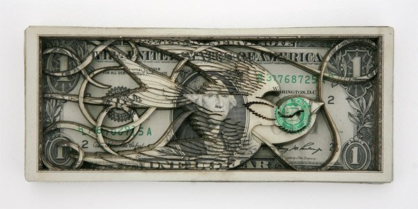 Laser Cut Dollar Sculptures