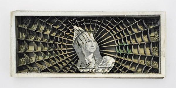 Laser Cut Dollar Sculptures