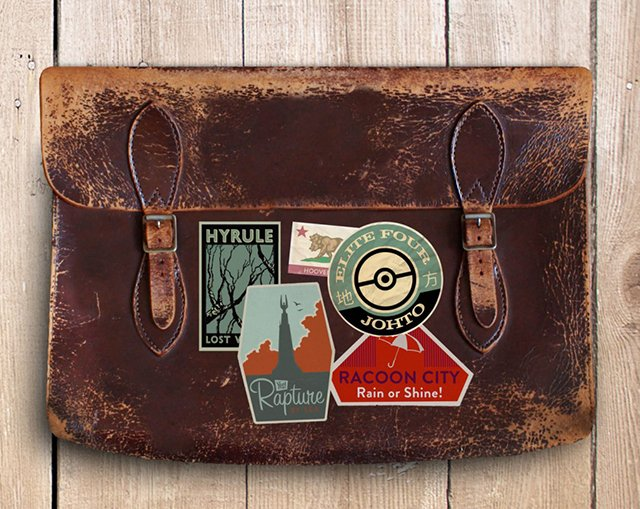 Gaming Luggage Labels