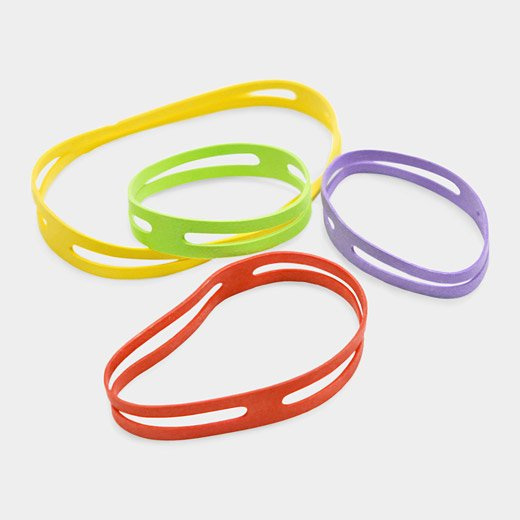 rubber bands band green
