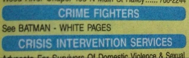 Batman in the Phone Book