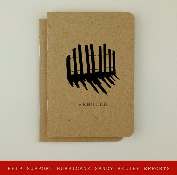 Sandy Relief Notebooks