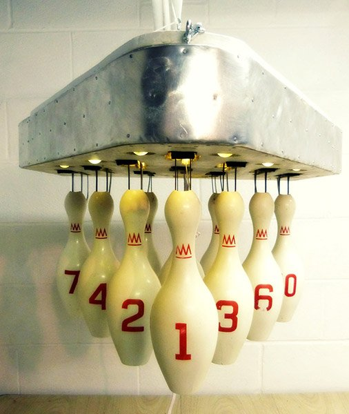 Bowling Pin Light Fixture