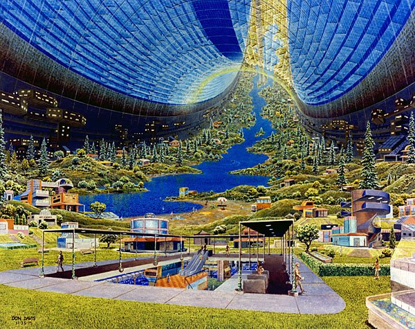 Seventies Space Colony Art