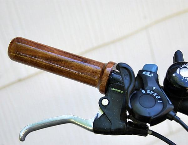 Hardwood Bike Grips
