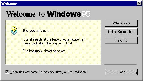 The Terrifying Windows 95