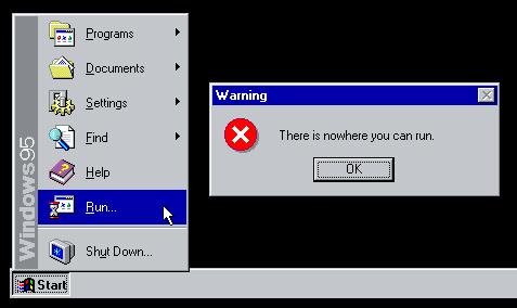 The Terrifying Windows 95