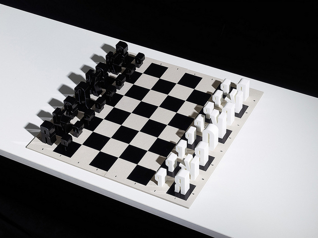 Typographic Chess Set