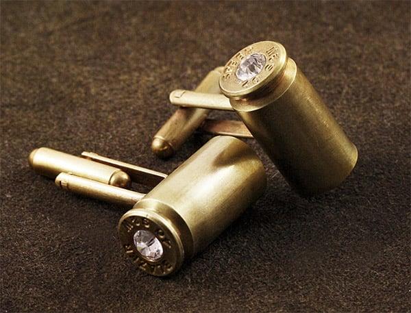 Bullet Casing Cufflinks