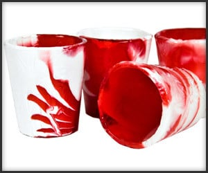 Candy Cane Shot Glasses
