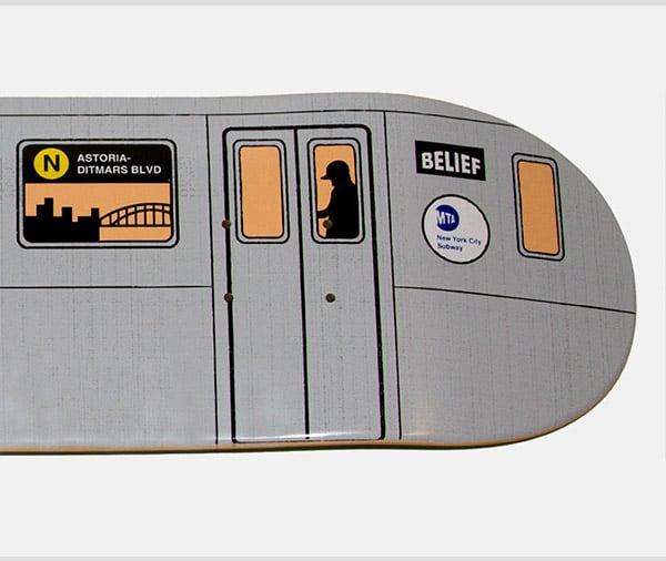 NYC Subway Skate Deck