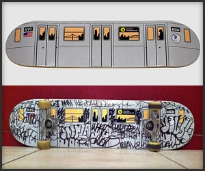 NYC Subway Skate Deck