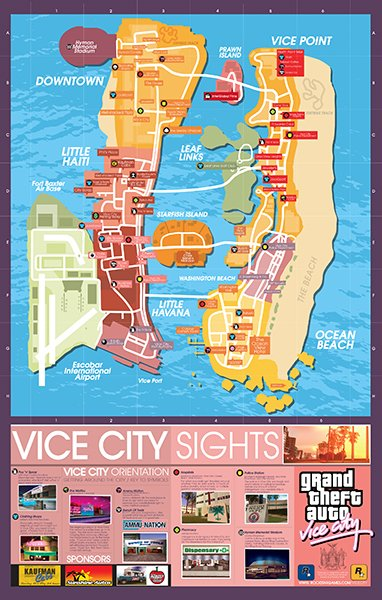 Grand Theft Auto Maps