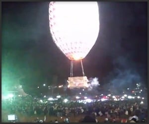 Hot Air Balloon Fireworks Fail