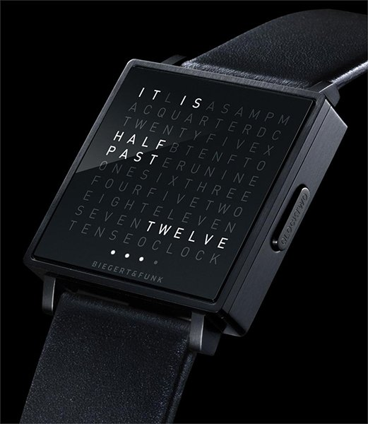 qlocktwo w watch released the awesomer