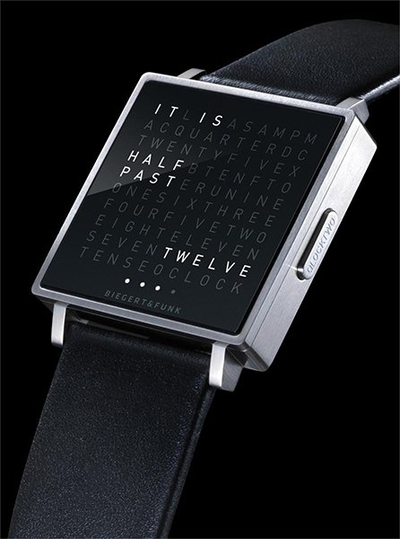 Qlocktwo W Watch: Released