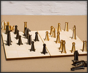Laser-Cut Chess Set