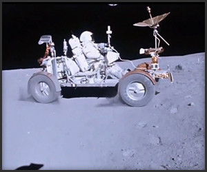 Lunar Rover on the Moon HD